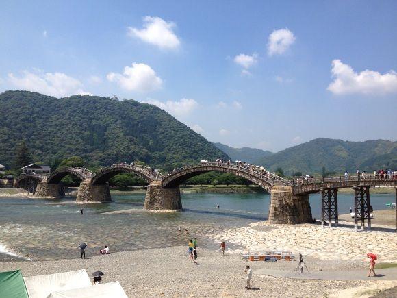 錦帯橋全体