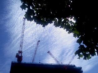 博多・朝の空